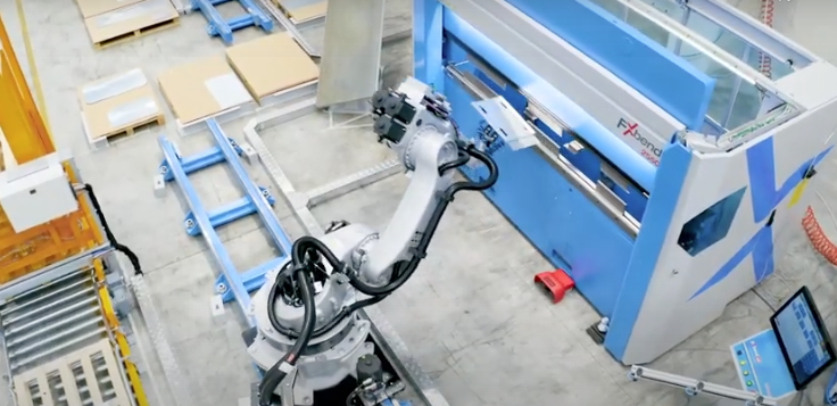 Euromac automation line with FX Bend 2550 press brake
