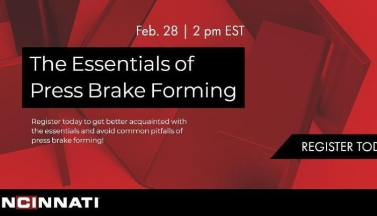 Cincinnati Inc. Webinar Event: The Essentials of Press Brake Forming Logo